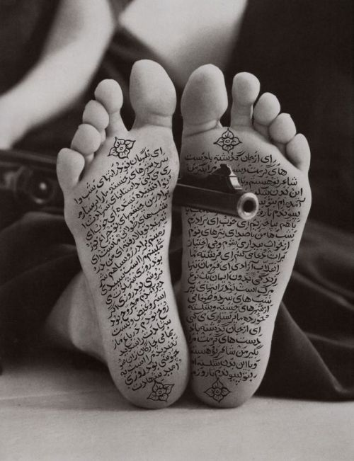Women of Allah shot by Shirin Neshat Created between 1993-1997