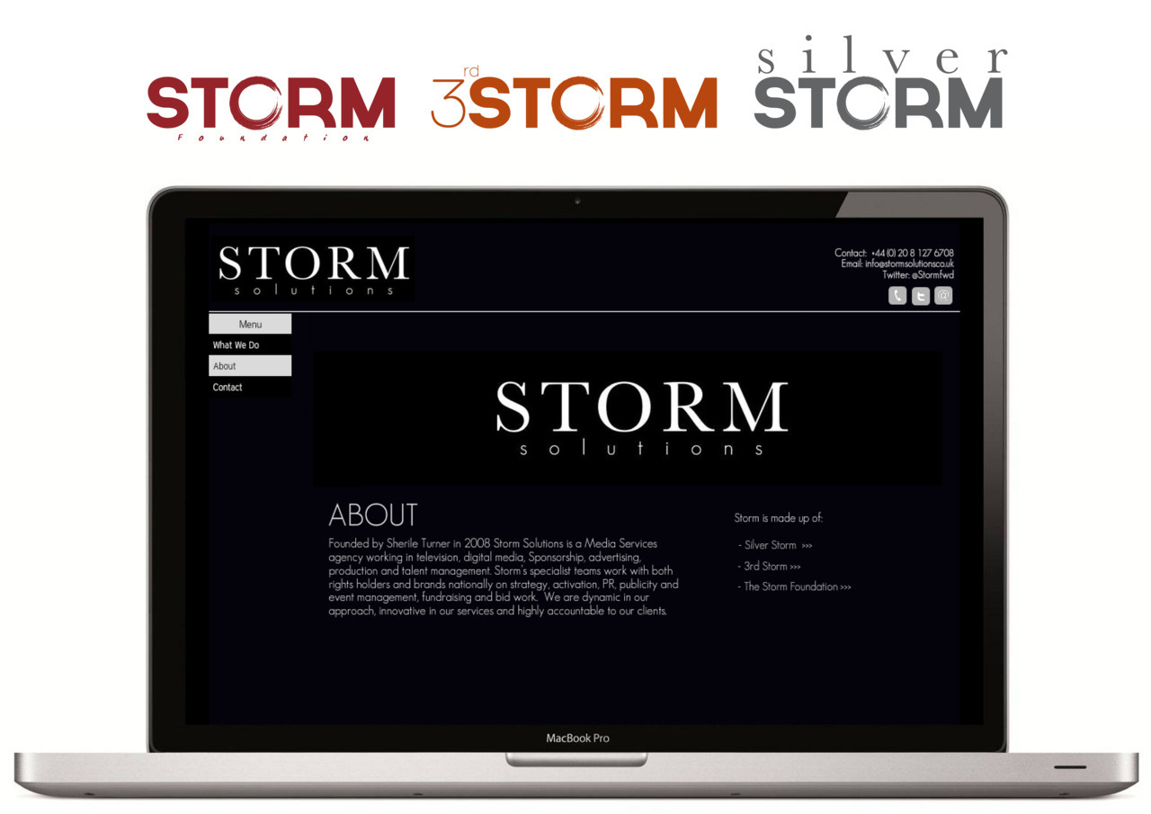 Storm Solutions Brand Identity Project by DB Designs can be viewed here.