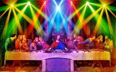 thizzwutbeezy:  dj jesus died for your spins  I met so many DJs at SXSW that Christ might have just died for their sins alone.
