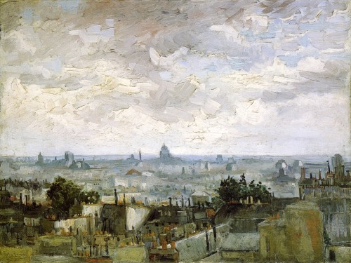 thepocketmouse:  The Roofs of Paris  (1886) Vincent van Gogh