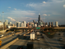 Beautiful view of downtown Chicago.