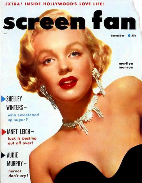 old-ads-and-mags:  Marilyn Monroe cover, Dec 1952 by J.Zee on Flickr.