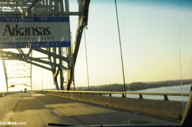 Entering Arkansas