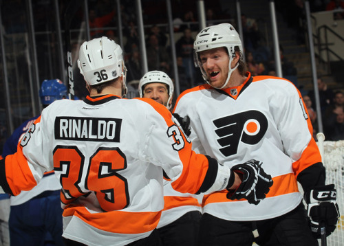 Rinaldo had the first Flyers goal