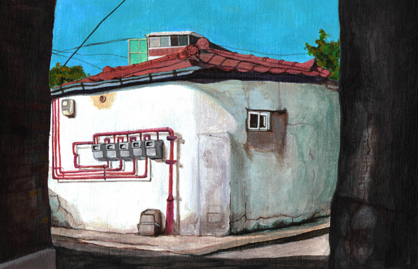 Seoul series (2012) Acrylic on paper