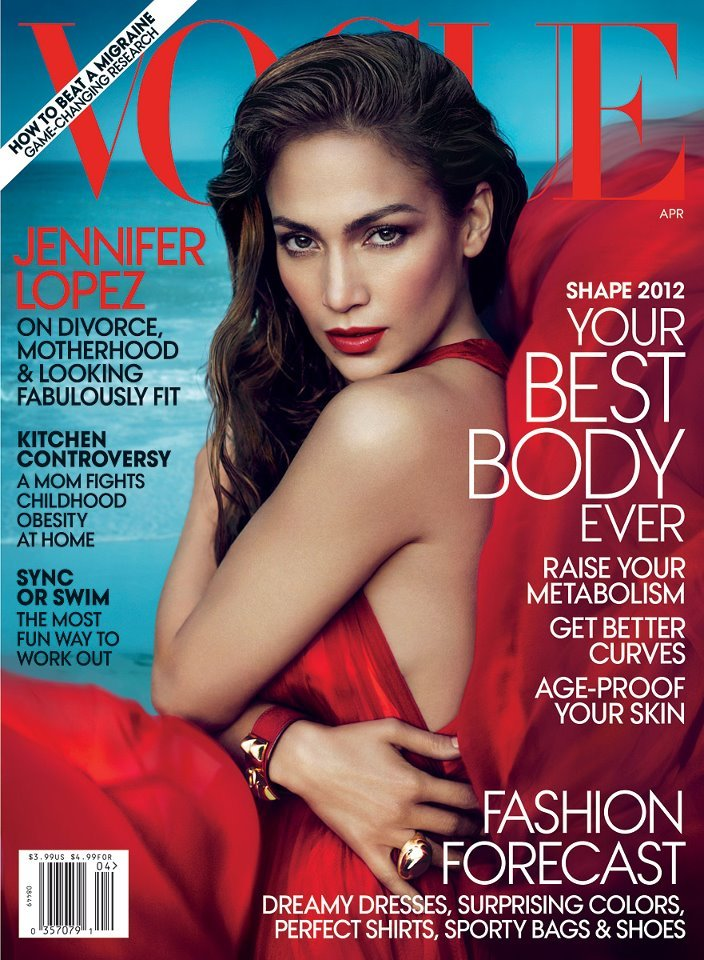 Jennifer Lopez Covers Vogue [US], April 2012 Read the cover story!