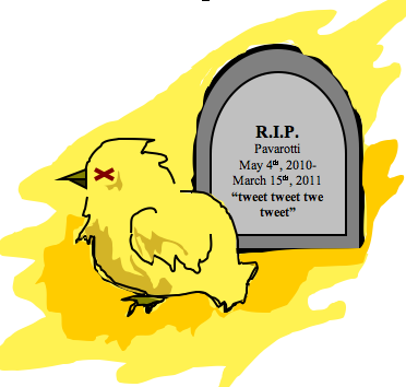 R.I.P. Pavarotti One year ago you sacrificed your life in the name of all that is holy to the Klainedom. Today we honor you.