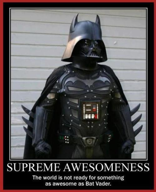 Bat Vader! All I can say is … EPIC!!!!