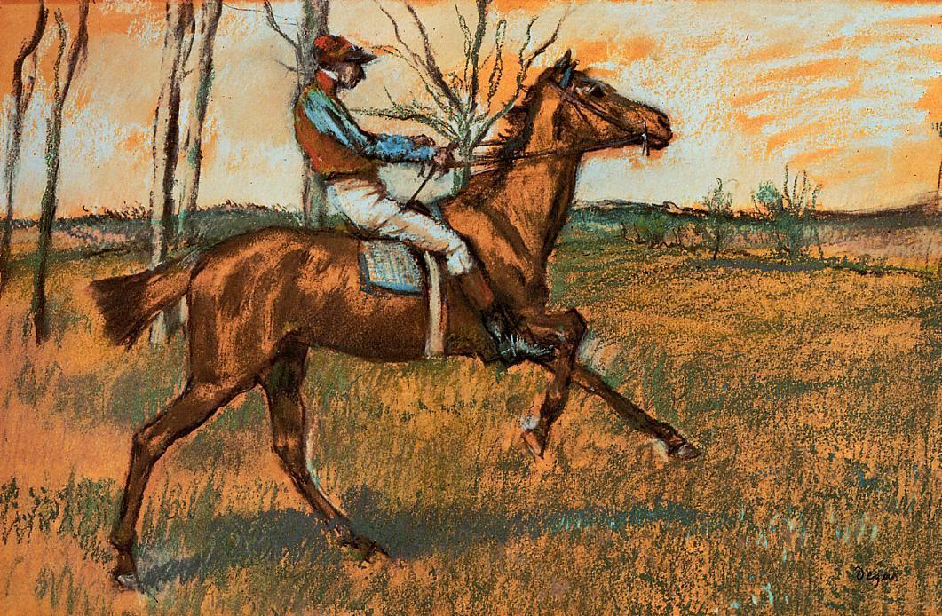 must-be-the-monet:  Edgar Degas, The Jockey, 1887. French, Philadelphia Museum of Art, PA.