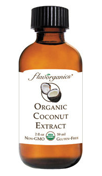 Ain't Nothin' Like The Real Thing Baby This coconut extract is Oregon Tilth Certified Organic (OTCO) as well as USDA Certified Organic, and is also kosher. Some other flavor extracts that we won't mention by name contain propylene glycol, polysorbate-80, triacetin or other solvents, and are manufactured with low quality GMO cottonseed oil and artificial flavors. The only ingredients in this one: Water, Organic Alcohol, Organic Agave Syrup, Organic Coconut Now that's the real deal!