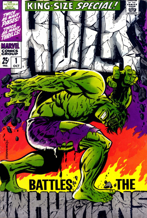 Comic book cover of the day: Hulk King-Size Special! Art by the mighty Jim Steranko.