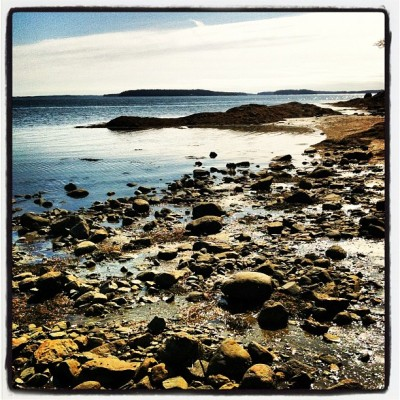 #lux #maine #ocean #rocks #lo-fi (Taken with instagram)
