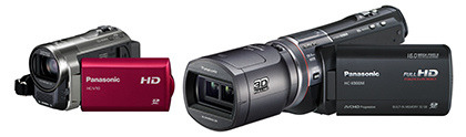 Panasonic camcorders: Spring/Summer 2012 line-up And for avid videographers, here are Panasonic's Spring/Summer 2012 line-up of camcorders.There are 9 new models in this collection, from the flagship 3D-capable HC-X900 for the enthusiast, to the compact HC-V10 for the beginner, and the HX-WA20 for the sportsman/woman: HC-X900 & HC-X900M HC-V700 HC-V500 & HC-V500M HC-V100 HC-V10 HX-WA20 HX-DC2