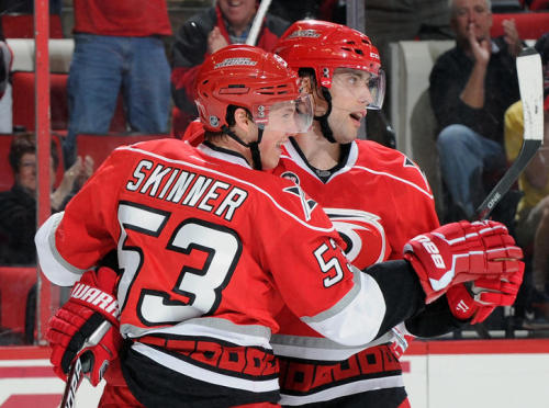 Ruutu & Skinner take a dance…  Cam Ward got his 200th career win