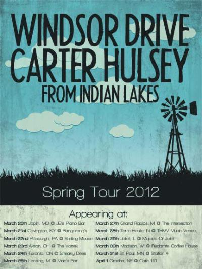 Really looking forward to this one! We played with Windsor Drive last year at the same venue and it was a really great time. We have tickets for $10! Let us know if you want to come:) 3/22/12 w/ WINDSOR DRIVE & CARTER HULSEYThe Smiling Moose1306 E. Carson St.Pittsburgh, PA