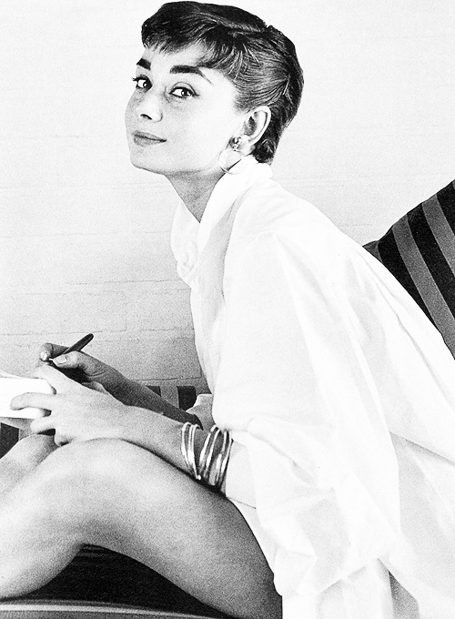 Audrey Hepburn, photographed by Mark Shaw, 1953.