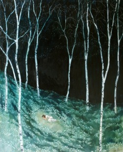 artchipel:  Daniel Ablitt - Sleeping. Oil on panel, 59 x 48.5 cm