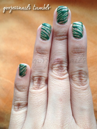 gorjessnails:  My St. Patrick's Day nails..