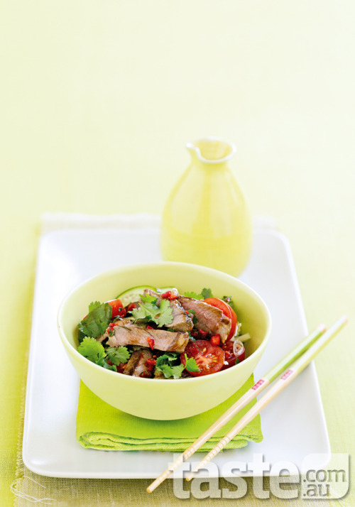 taste-com-au:  Enjoy the Thai life with this salad that incorporates a speedy dressing of zingy tamarind, chilli, coriander and lime. (Photography by Mark O'Meara; Recipe by Chrissy Freer)