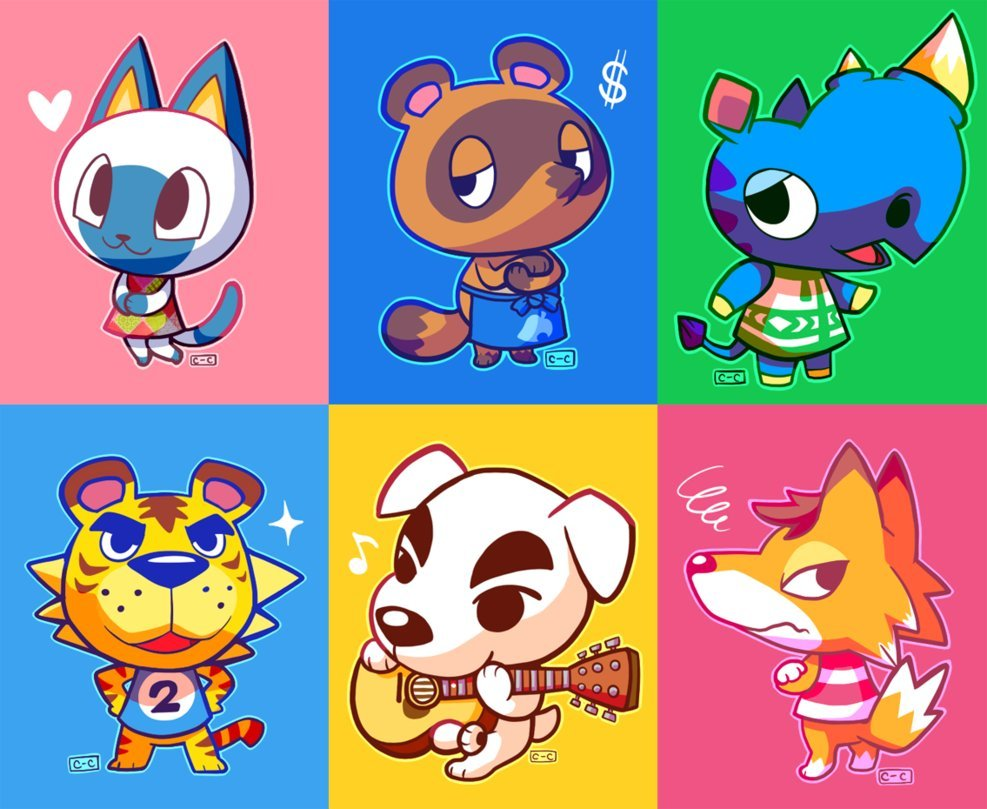 Animal Crossing Villagers Created by Lisa Mosebach