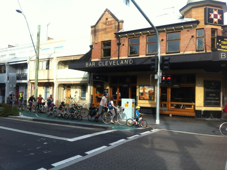 only on bourke st! i wish this was all over sydney! (via sydney cycleways facebook)
