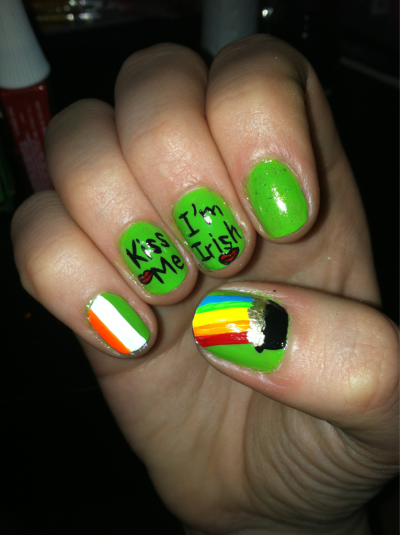 nailsbycolleen:  St. Patrick Day Nails