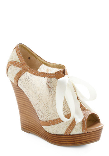 Can it get any better than lace wedges?! These are so versatile. I would definitely get my share of use out of them.