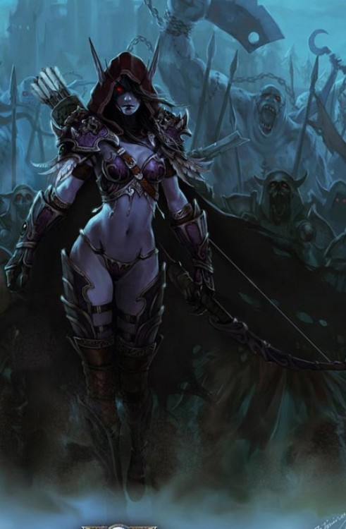 spectralxelemental:  Reblogging because Sylvanas. :T I love Sylvanas guys, you have no idea.  my love for Sylvanas is UNDYING. actually looking for some free servers to play on. forsaken for life… well death… unlife?