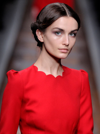 Valentino Fall 2012 - The scalloped neckline is so cute!