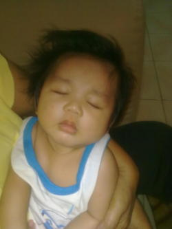 1st Christmas eve—- busy sleeping! haha