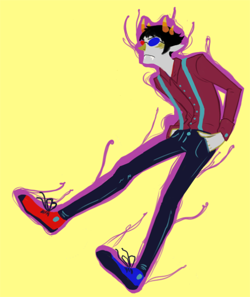 acrylicemulator:  chouettechouette:  a really super quick drawing  Sollux in suspenders, one of my favorite things.
