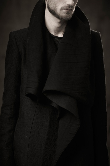 What Would Robb Stark Wear? Black High Necked Jacket by Obscur- A/W 2011 Must have no shortage of warm jackets. After all… ….Winter is coming.