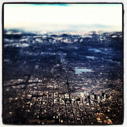 larksparrow:  Another trip, this time Houston for business. #Denver from the air. #sky (Taken with instagram)