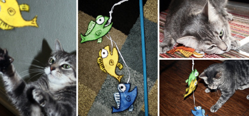Diy cat toy (printable pattern included) Via- Dream A Little Bigger