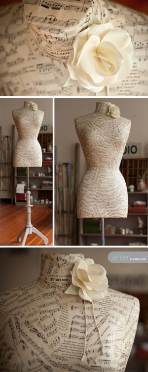 Diy mannequin decoupage.   Via- Ellinee