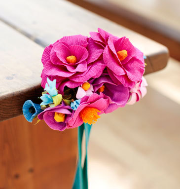 Diy crepe paper flower bouquets. Via- Hello Lucky