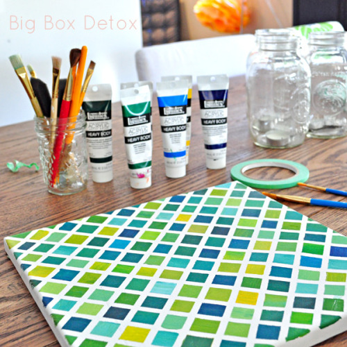 Diy grid painting. Via- Big Box Detox
