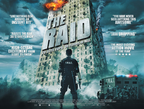 remake dari film indo nih..judulnya serbuan maut kalo ga salah… totalfilm:  Exclusive UK poster for action hit The Raid  The Raid, destined to be your next favourite action movie, opens in the UK in May, but the buzz that has been building already has been close to deafening…
