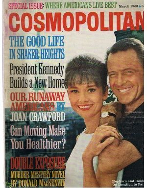 Audrey Hepburn and William Holden on Cosmopolitan, March 1963