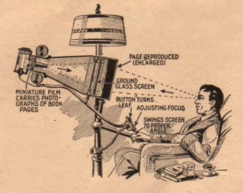 The book reader of the future (April, 1935 issue of Everyday Science and Mechanics) The iPad of 1935