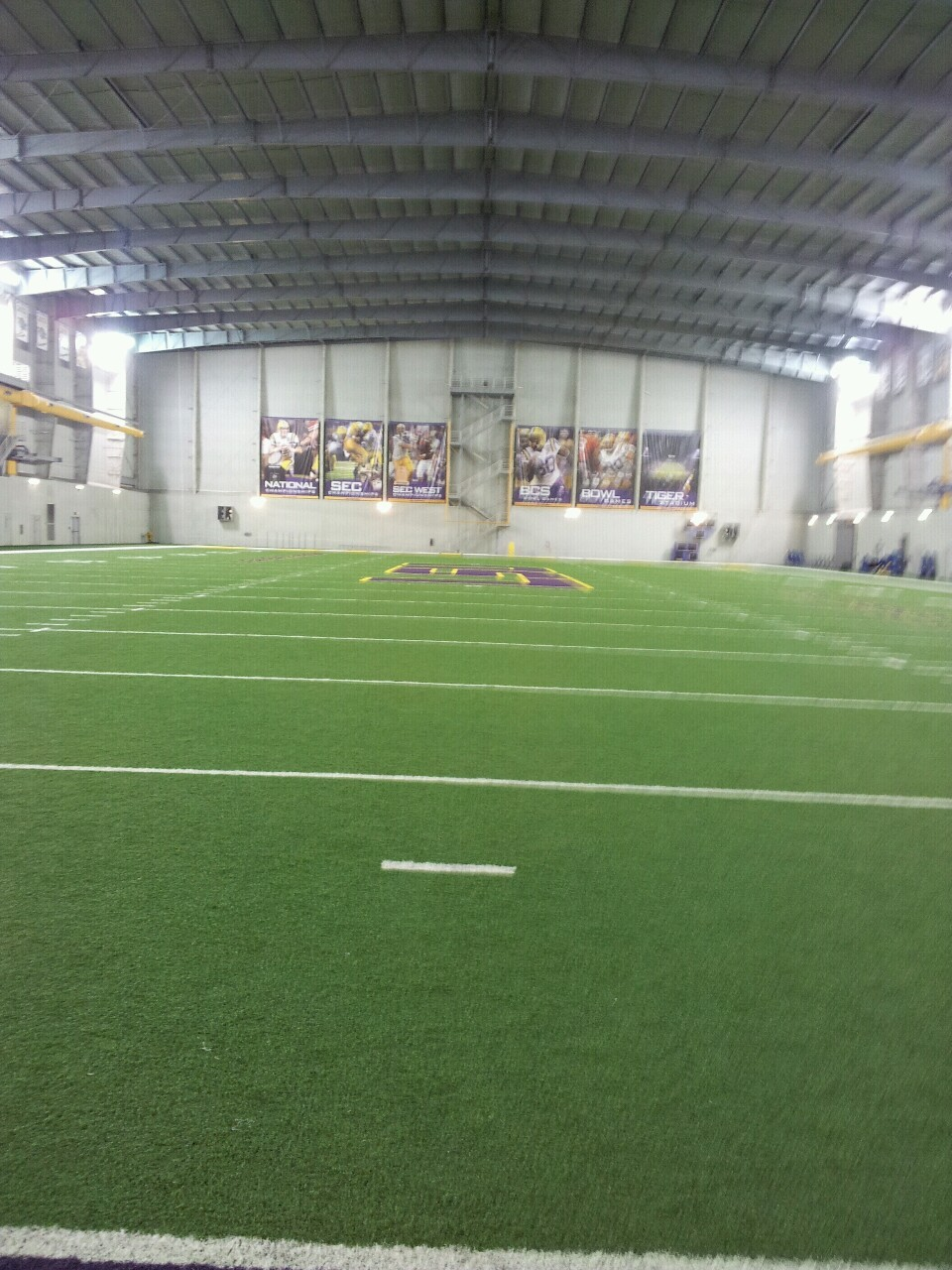 I was able to walk around the indoor practice facility yesterday during player interviews.