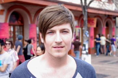 #SXSW Hair - Adam is a music producer and lead singer of a band. To accomplish his style, he wakes up, showers, and just lets it dry.  He asked his stylist for a Just Beiber-style do' and uses pomade to keep it in shape.