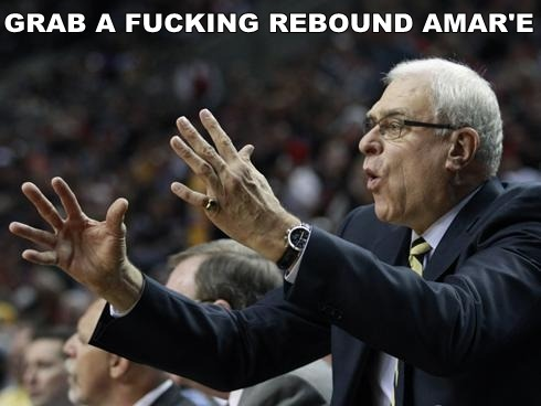 """Grab a fucking rebound Amar'e!"" - Phil Jackson as a Knicks coach"