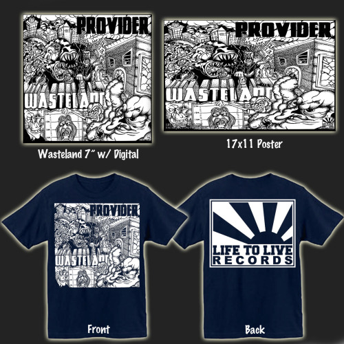Provider - Wasteland pre-orders go up today!!  The records won't be shipping until late April / early May (pending on how quick the record plant wants to operate).  Test presses, shirts, posters, and records are all up! http://ltlrecs.storenvy.com  Full Album Stream of Wasteland here: http://toxicbreedsfunhouse.blogspot.com/