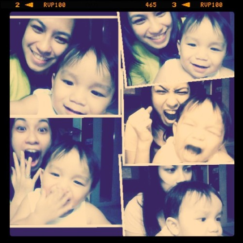 wacky time with big boy  (Taken with instagram)