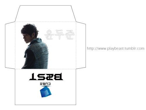 PLAYB2ST IS BACK. HERE YOU GO, WITH B2ST's YOON DOOJOON PRINTABLE ENVELOPE! I apologize for not updating for months, I've been really busy with my exams and stuffs. Since I'm back, I'll update you guys with lots of free B2ST printables and downloads :) For Yang Yoseob: http://playbeast.tumblr.com/post/14347394961/beast-b2st-yoseob-printable-envelopeFor Lee Gikwang: http://playbeast.tumblr.com/post/14163822075/beast-b2st-gikwang-kikwang-printable Other members' printable envelopes are coming soon - so be sure to follow us to get updates!
