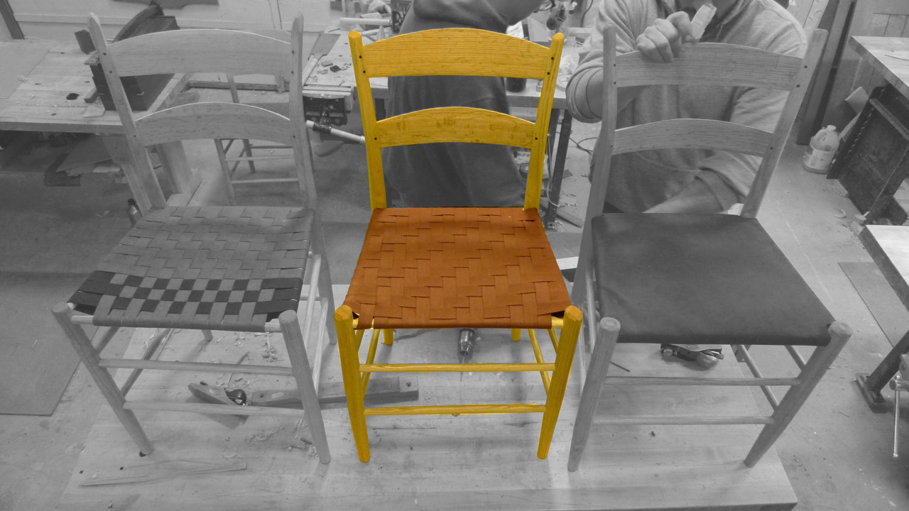 Shaker-style ladderback chair, Red Oak, Linseed oil
