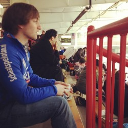 Coach Mikey Burdekin deep in concentration #speedskate  (Taken with instagram)