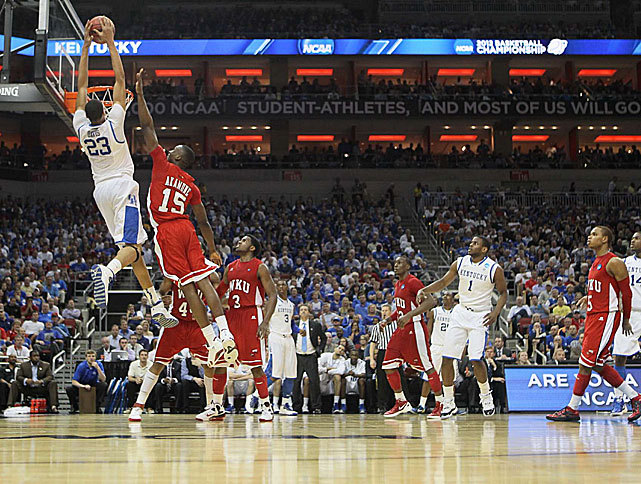 Kentucky forward Anthony Davis skies for a dunk during yesterday's Round 2 victory over Western Kentucky. Davis recorded 16 points and 7 rebounds in the Wildcats 81-66 victory. (Damian Strohmeyer/SI) WINN: Wrapping up Thursday's tourney actionGALLERY: Best Photos from Day 1VIDEO: Best Moments from Day 1