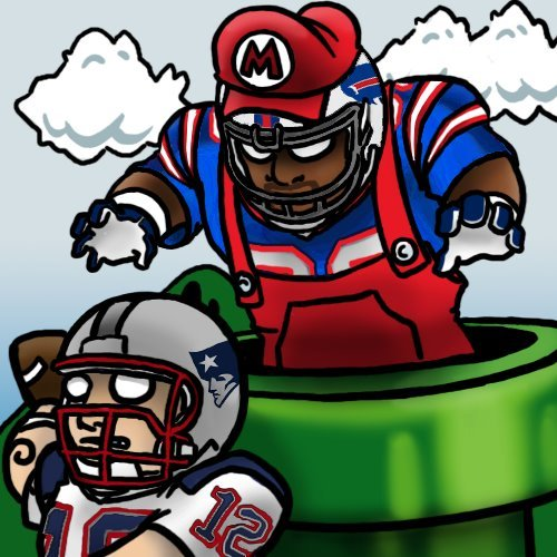 buffaloblog:  Here comes Super Mario Brady.  YES